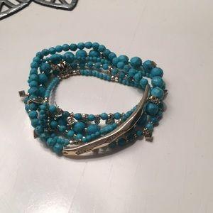 Kendra Scott Supak Bracelet- gold and turquoise